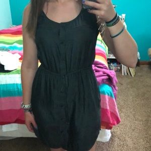 Grey American Eagle Button Up Dress